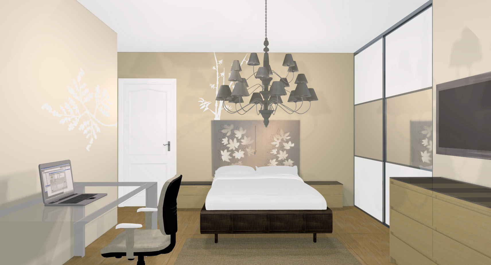 Couleur chambre parent meilleures images d 39 inspiration for Decoration chambre parent