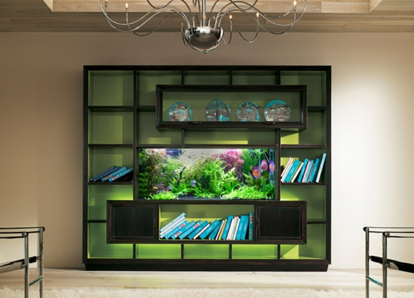 l aquarium en d co un brin d vasion dans la maison dar. Black Bedroom Furniture Sets. Home Design Ideas