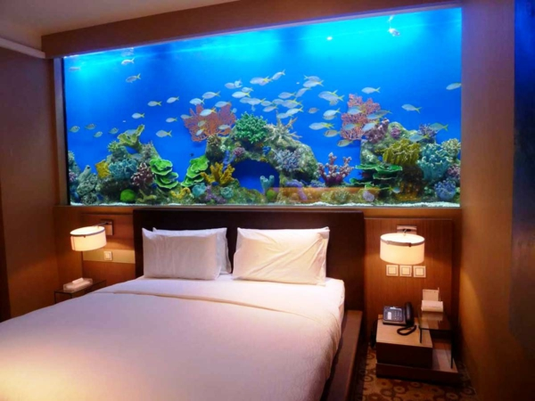 L aquarium en d co un brin d vasion dans la maison dar for Fish tank bedroom ideas