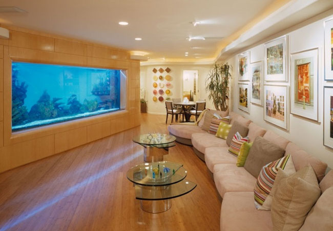 aquarium salon design moderne tendance - Salon Moderne Design Tunisie