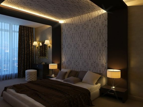 faux plafond suspendu avec clairage moderne dar d co d coration int rieure maison tunisie. Black Bedroom Furniture Sets. Home Design Ideas
