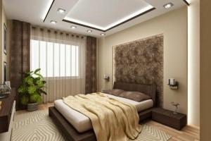 faux-plafond-suspendu-chambre-a-coucher-beige