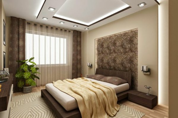faux plafond suspendu chambre a coucher beige dar d co d coration int rieure maison tunisie. Black Bedroom Furniture Sets. Home Design Ideas