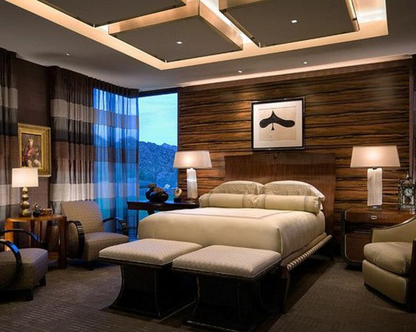 faux plafond suspendu chambre a coucher moderne tendance dar d co d coration int rieure. Black Bedroom Furniture Sets. Home Design Ideas