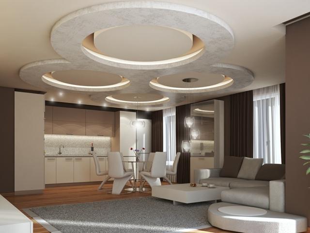 Faux Plafond Pvc Pour Chambre À Coucher : salle-manger-plafond-elegant – Dar Déco, Décoration intérieure …