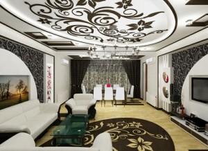 salon-original-plafond-elements-florales