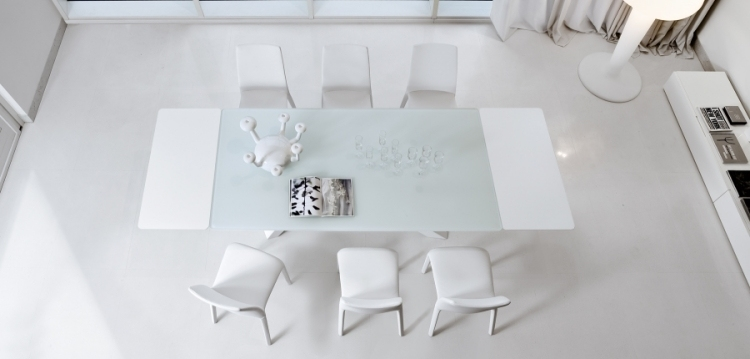 Beautiful Table A Manger Blanche Extensible Photos - Amazing House ...