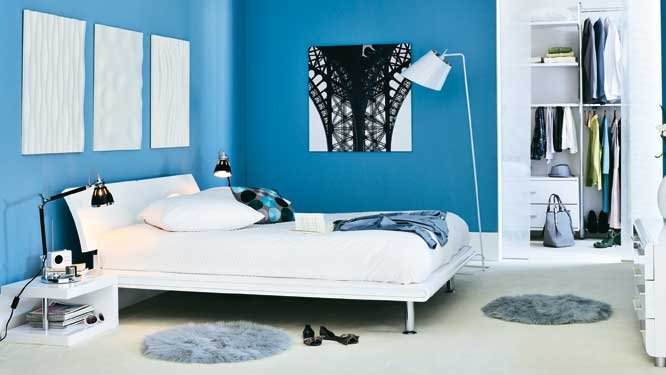 refaire sa chambre en bleu dar d co d coration. Black Bedroom Furniture Sets. Home Design Ideas