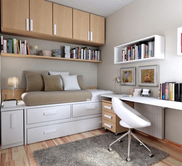 Agrandir une petite chambre par des rangement fonctionnel