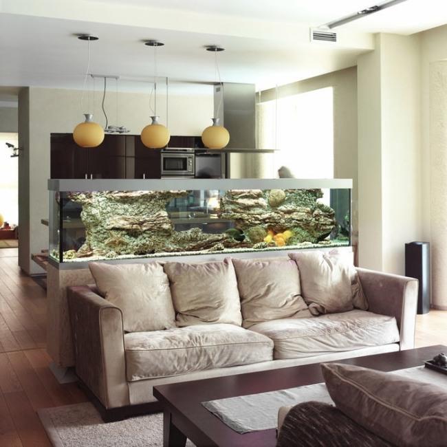 aquarium-salon-large - Dar Déco, Décoration intérieure ...