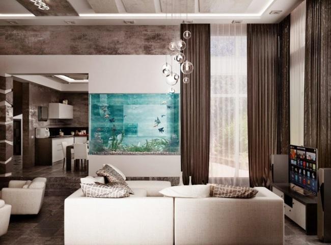 aquarium salon moderne dar d co d coration int rieure maison tunisie. Black Bedroom Furniture Sets. Home Design Ideas