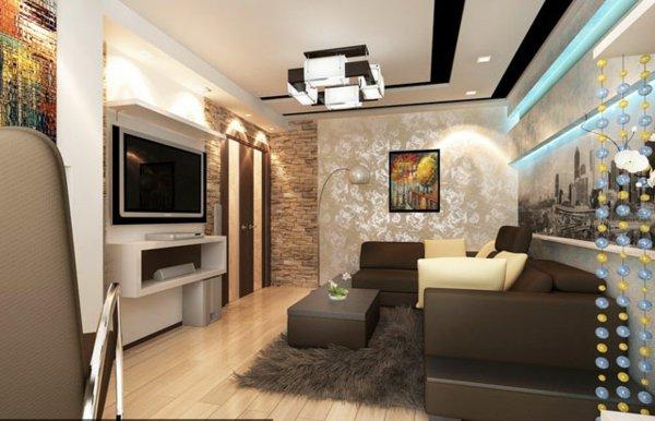 Faux plafond suspendu salon dar d co d coration int rieure maison tunisie - Decoration plafond salon ...