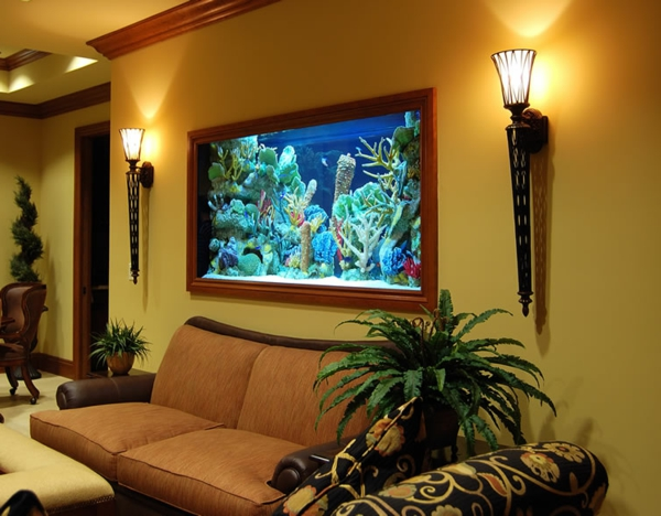 unique design aquarium mural dar d co d coration int rieure maison tunisie. Black Bedroom Furniture Sets. Home Design Ideas