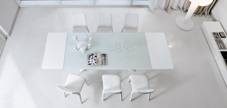 la salle manger blanche dar d co d coration int rieure maison tunisie. Black Bedroom Furniture Sets. Home Design Ideas